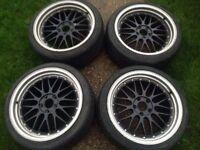 18 bbs 5x112 alloy wheels rims audi a3 a4 vw golf passat mercedes c e class