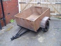 Box Trailer : Box/wheels removes for easier storage.Lights board/plug.Spare wheel.W1.07xL1.22xD0.48m