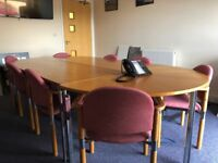 Excellent Versatile Board Room Table and 14 Chairs