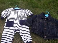 0-6 months baby gap romper and coat