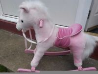 Girls Pink Rocking Horse with sounds