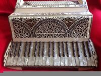 Vintage Italian piano accordian , highly ornate