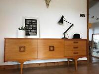 Mid Century vintage retro sideboard and stock