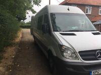 Mercedes Sprinter Band/Crew Van - 8 Seats, Bunk, 240v Electric, USB, Bluetooth (2012)
