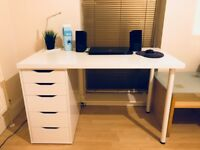 Sell IKEA white desk (Alex/Linnmon) + IKEA Torkel black chair + Bistro table for 2 - AS NEW