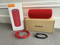 Bluetooth Red Zamkol Portable Speaker