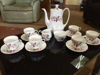 Vintage bone china tea set coffee set, 16 pieces £10