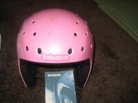 GIRLS PINK SKI HELMET