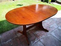 Large Teak Extendable Dining Table 90cm x 180cm