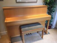 Kemble Oxford upright piano and matching stool