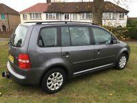 2006 VW Touran 1.9tdi Diesel Towbar 2 Remote Keys Aircon 7 seater 1Year MOT HPI Clear