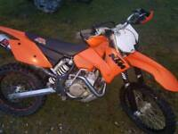 Ktm sxf 450 road legal moted ready to ride away has 6 speed gear box