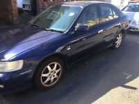 Honda Accord Type-V 2254cc Petrol Automatic 5 Door Hatchback 02 Plate 10/04/2002 Blue