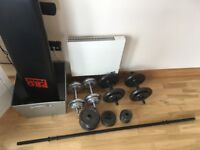Weight set and ab board