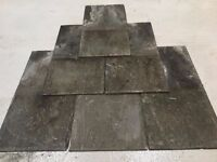 """Natural Welsh secondhand slates 12x24""""with good nail holes."""