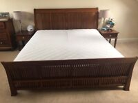 Indonesian Teak Super King Size Sleigh bed