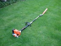 STIHL KM130R KOMBI WITH LONG REACH HEDGE TRIMMER CUTTER ATTACHMENT IN EXCELLENT CONDIITION
