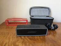 BOSE SOUNDLINK MINI II 2 Carbon wireless wifi portable bluetooth speaker w travel and hardcover case