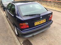 BMW 318TI 1796cc Petrol Automatic 3 door hatchback N Reg 18/09/1995 Blue