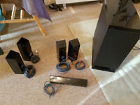 Sony 5.1 sourceless surround sound speakers