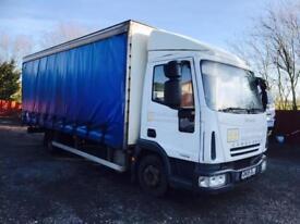 Iveco Cargo 75E16 add blue curtainside truck