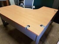 Executive managers office desks in beech top spec