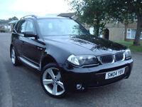 BMW X3 3.0i M-Sport Automatic,FULL SERVICE HISTORY,SAT.NAV,PANORAMIC ROOF,XENON LIGHTS,12 Month MOT