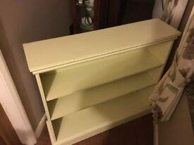 Like new cream bookcase for sale