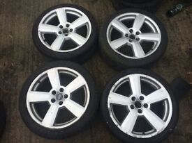 RS6 ALLOYS 5-112 & 5/100 CHOICE OF FIVE ALLOYS 5/112 £220FOR SET OF FIVE DECENT TYRES ALSO 5/100