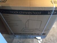 Logik Chimney Cooker Hood Black or Stainless Steel 60cm New and Unused