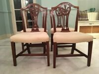 Set of Four Antique mahogany dining table chairs. £130