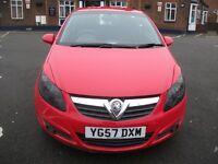Vauxhall Corsa 1.2 i 16v SXi 3dr£1,990 L MOT, AUX, FULL S/H 2008 (57 reg), Hatchback
