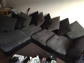 L Shaped Sofa Charcoal