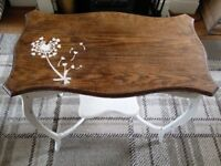 Antique oak shabby chic hallway table