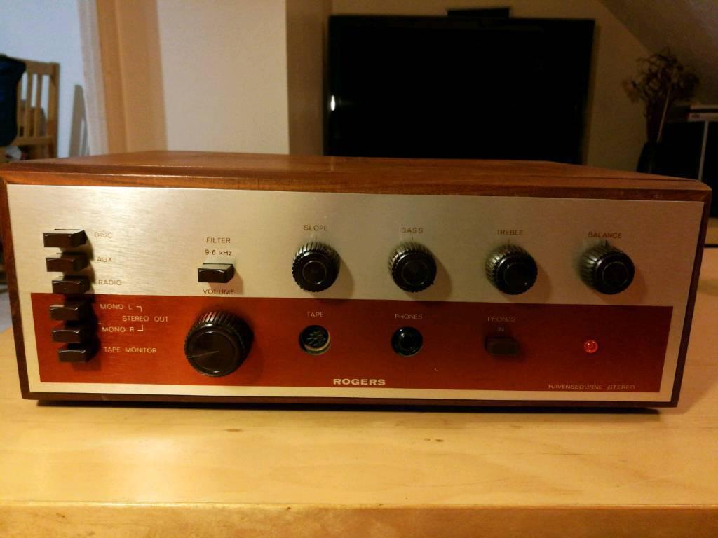 Rogers Ravensbourne stereo amplifier, vintage classic rare