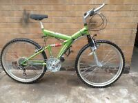MENS LIGHTWEIGHT DUAL SUSPENSION MOUNTAIN BIKE IN VERY GOOD CONDITION