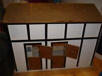 Horse stable, hand made wooden with partitioning and shelf for storage - good condition