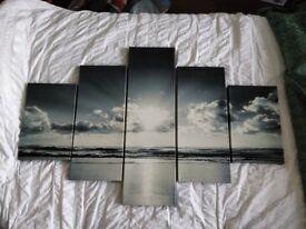 Sunset Printed Split Canvas