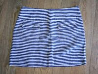 Gorgeous stripy linen skirt