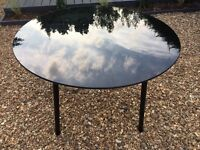 Ikea Round Black Glass Dining Table