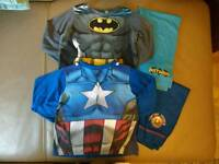Superhero Boys Pajamas Age 3-4 Marvel DC Comics Batman Captain America