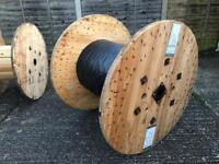 120cm industrial wooden cable drum upcycle table