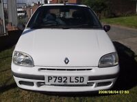 RENAULT CLIO 1.2cc..WHITE..CLASSIC CAR..42000 WITH SERVICE HISTORY
