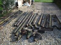 Cast Iron guttering, downpipes, hoppers and soil pipe. Suitable for period property.