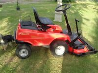 Ride on lawnmower outfront deck zero turn mulcher ex cond, new deck fitted