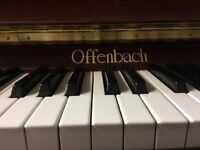 Offenbach Upright Piano - Mahogany High Gloss - Quality Modern Instrument - VGC - *free delivery*