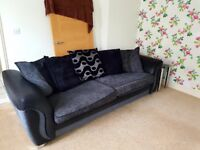4 Seater Sofa with Footstool Storage