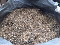 Minimum 3 tons of gravel/aggregate. In bags ready to go. Previously used.