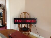 neon sign write own message with keyboard