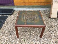 Vintage tiled coffee table